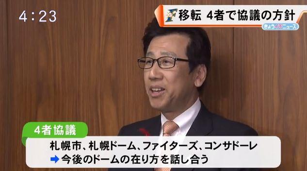 日本ハムファイターズの本拠地移転構想の影響で札幌ドームが野球専用化する可能性あり?札幌市長が言及