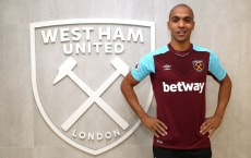 ROMFORD, ENGLAND - JANUARY 26:  West Ham United Unveil New Signing Joao Mario at Rush Green on January 26, 2018 in Romford, England.  (Photo by West Ham United FC/Getty Images) *** Local Caption *** Joao Mario