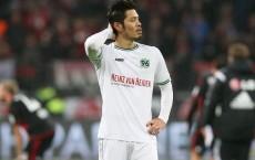 Fussball / firo Leverkusen - Hannover 30.01.2016
