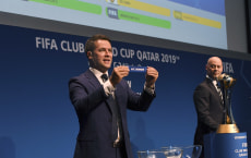 ZURICH, SWITZERLAND - September 16: FIFA Club World Cup Qatar 2019 draw at the FIFA headquarters on September 16, 2019 in Zurich, Switzerland. (Photo FIFA)