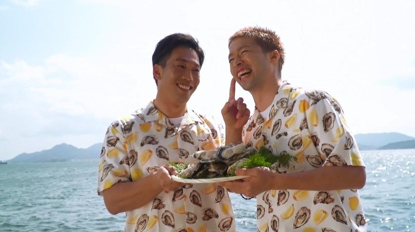 元サンフレッチェ広島の森﨑浩司氏が地元の「春牡蠣」をPR 元広島カープの天谷宗一郎氏とともに食レポにも挑戦