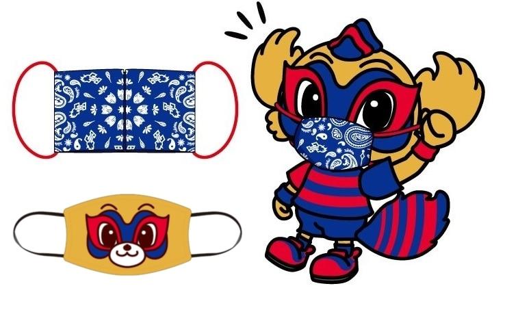 FC東京がオリジナルデザインの布製マスクとバンダナを販売へ バンダナは代用マスクとして使用可能